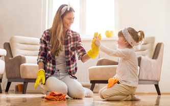 Helping Children Take Part in Keeping a Home Clean